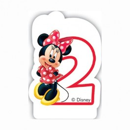 Disney Minnie Mouse Birthday Number 2 Candle (1)