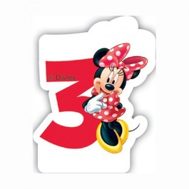 Disney Minnie Mouse Birthday Number 3 Candle (1)