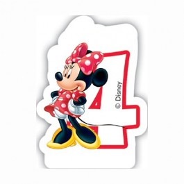 Disney Minnie Mouse Birthday Number 4 Candle (1)