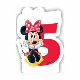 Disney Minnie Mouse Birthday Number 5 Candle (1)