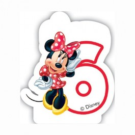 Disney Minnie Mouse Birthday Number 6 Candle (1)