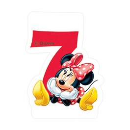 Disney Minnie Mouse Birthday Number 7 Candle (1)