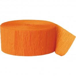 Orange Crepe Streamer 81 Ft (1)