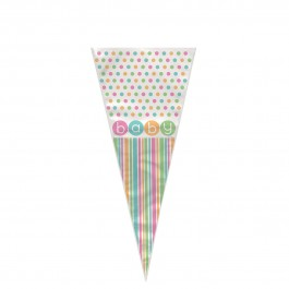 Pastel Baby Shower Cone Cello Bag (20)