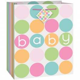 Pastel Baby Shower Medium Giftbag  (1)