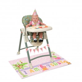 Pink Safari First Birthday High Chair Kit (1)