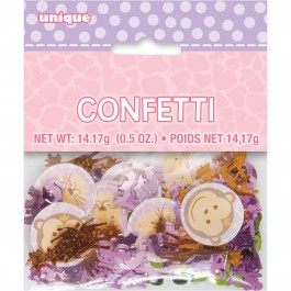 Pink Safari First Birthday Printed Foil Confetti (1)
