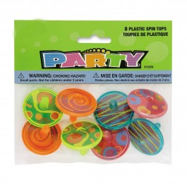 Plastic Spin Tops (8)