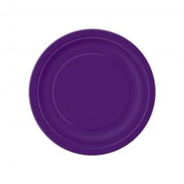 Deep Purple Round Dessert Plates (20)