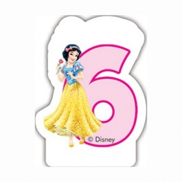 Disney Princess Birthday Number 6 Candle (1)