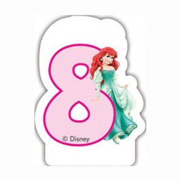 Disney Princess Birthday Number 8 Candle (1)