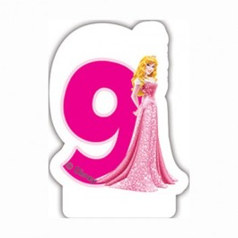 Disney Princess Birthday Number 9 Candle (1)