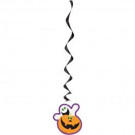 "Pumpkin Boo Hanging Swirls 26"" (3)"