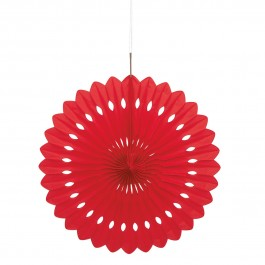 Red Decorative Fan (1)