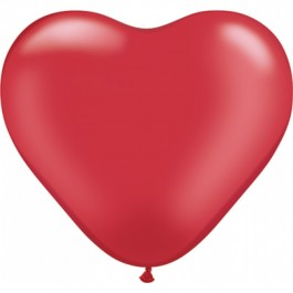 "Qualatex Red Heart Shape Latex Balloon 15"" (1)"