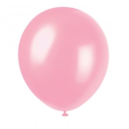 Rose Pink Solid Color Latex Balloons (10)