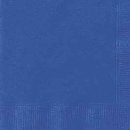 Royal Blue Beverage Napkins (20)