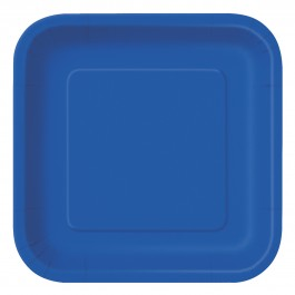 Royal Blue Square Lunch Plates (14)