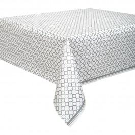 Silver Quatrefoil Table Cover (1)