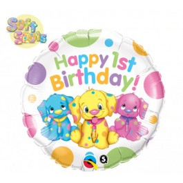 Soft Spots First Birthday Foil Balloon (1)