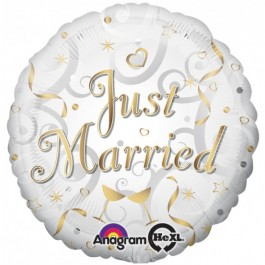 Just Married Foil Balloon (1)