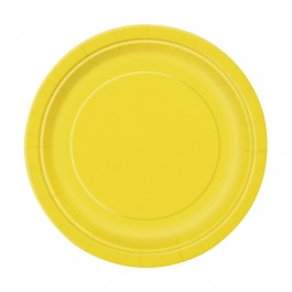 Sunflower Yellow Dessert Plates (20)