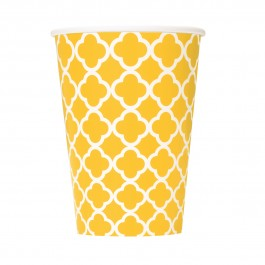 Sunflower Yellow Quatrefoil Cups (6)