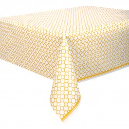 Sunflower Yellow Quatrefoil Table Cover (1)