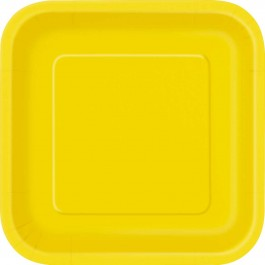 Sunflower Yellow Lunch Square Plates (14)