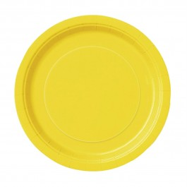 Sunflower Yellow Lunch Plates (16)