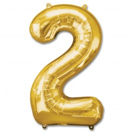 """2 Gold Number Shape - Package 34""""  (1)"""