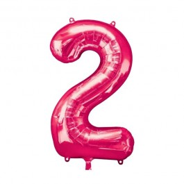 "34""  Two Pink Number Shape Foil Balloon (1)"
