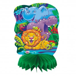 Jungle Safari Mini Honeycomb Decorations (4)