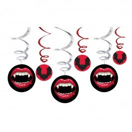 Vampire Hanging Swirl Decorations (3)