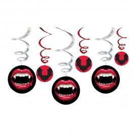 Vampire Hanging Swirl Decorations (3)