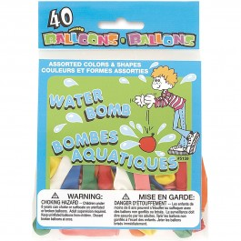 Water Bomb Balloon Assorted Colors (40)