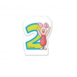 Disney Winnie Number 2 Candle (1)