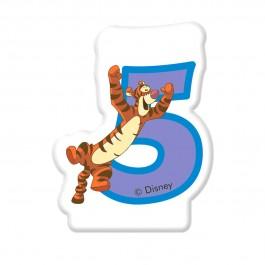 Disney Winnie Number 5 Candle (1)
