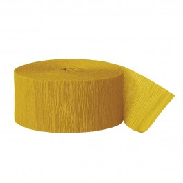 Yellow Crepe Streamers (6)