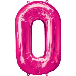 "34"" Zero Pink Number Shape Foil Balloon (1)"